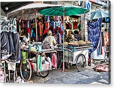 Shop With Carts Acrylic Print by Linda Phelps