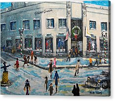 Shopping At Grover Cronin Acrylic Print by Rita Brown
