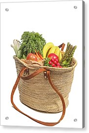 Shopping For Orrganic Fruit And Vegetables  Acrylic Print by Patricia Hofmeester