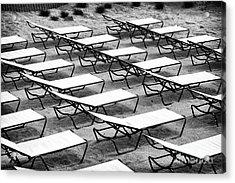 Shore Lounges Acrylic Print by John Rizzuto