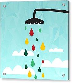 Shower  Acrylic Print by Mark Ashkenazi