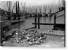 Shrimp Boats In Key West Acrylic Print by Thomas D McManus