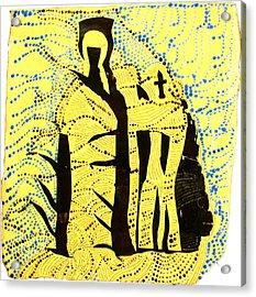 Shroud Of Jesus Acrylic Print by Gloria Ssali