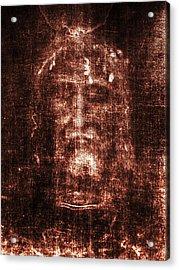 Shroud Of Turin Acrylic Print by Christian Art