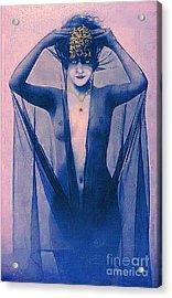 Shrouded Woman Acrylic Print by Maureen Tillman