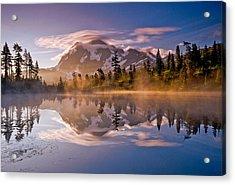 Shuksan Sunrise Acrylic Print by Darren  White