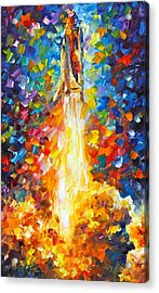 Shuttle Discovery  Acrylic Print by Leonid Afremov