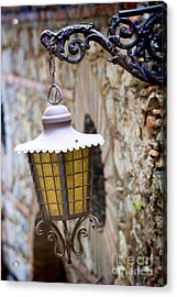 Sicilian Village Lamp Acrylic Print by David Smith