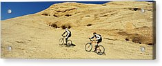 Side Profile Of Two Men Mountain Acrylic Print by Panoramic Images