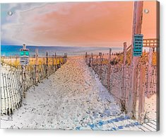 Sideside Heights Sunset Acrylic Print by Gary Keesler