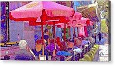 Acrylic Print featuring the photograph Sidewalk Cafe Digital Painting by A Gurmankin