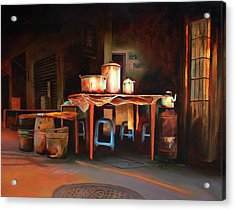 Sidewalk Cafe Acrylic Print by Sue  Darius