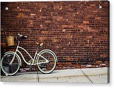 Sidewalk Parking Acrylic Print by Karol Livote
