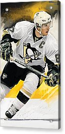 Sidney Crosby Artwork Acrylic Print by Sheraz A