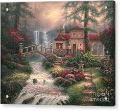 Sierra River Falls Acrylic Print by Chuck Pinson