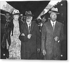 Sigmund Freud Exiled Acrylic Print by Underwood Archives