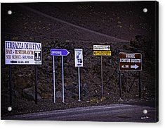 Signs Of A Crater - Sicily Acrylic Print by Madeline Ellis