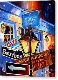Signs Of Bourbon Street Acrylic Print by Diane Millsap