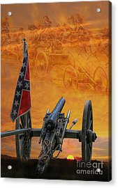 Silent Fields Of Gettysburg Acrylic Print by Randy Steele