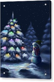 Silent Night Acrylic Print by Veronica Minozzi