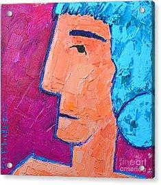 Silent Woman Acrylic Print by Ana Maria Edulescu