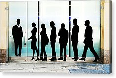 Silhouettes On Broadway Acrylic Print by Allen Beatty