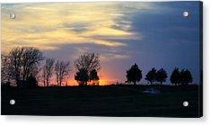Silhouetts Of A Sunset Acrylic Print by Joan Bertucci