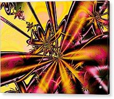 Silk Flower Acrylic Print by Anastasiya Malakhova