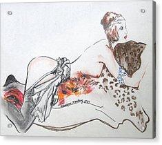 Silk Stockings Acrylic Print by Monique Montney