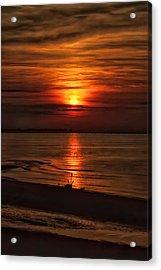 Silouhette In Sunset  Acrylic Print by Geraldine Scull