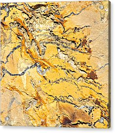 Siltstone Abstract Acrylic Print by Karon Melillo DeVega