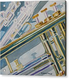 Silver And Brass Keys Acrylic Print by Jenny Armitage