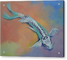 Silver And Jade Acrylic Print by Michael Creese