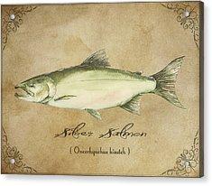 Silver Salmon Acrylic Print by Joel DeJong