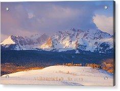 Silverthorne Sunrise Acrylic Print by Darren  White