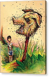 Simon And The Beast Acrylic Print by John Ashton Golden