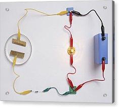 Simple Electronic Circuit Detects Water Acrylic Print by Dorling Kindersley/uig