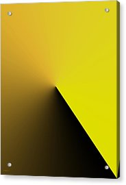 Simple Geometric Solution In Yellow Acrylic Print by Mario Perez