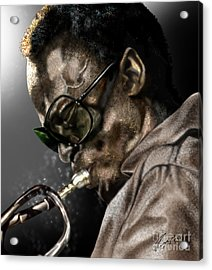 Simply Miles Acrylic Print by Reggie Duffie