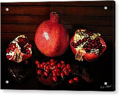 Simply Red Acrylic Print by Cole Black