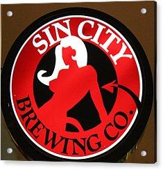 Sin City Brewing  Acrylic Print by Cynthia Guinn