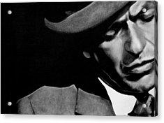 Sinatra B/w Acrylic Print by Leon Jimenez