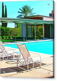 Sinatra Pool Palm Springs Acrylic Print by William Dey