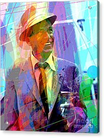 Sinatra Swings Acrylic Print by David Lloyd Glover