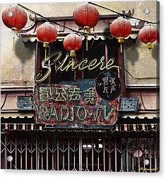 Sincere Radio Tv Acrylic Print by Larry Butterworth