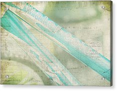Sing As You Pedal Acrylic Print by Toni Hopper