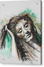 Singer Adele 02 Acrylic Print by Chrisann Ellis