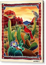 Singing In The Desert Morning Acrylic Print by Harriet Peck Taylor