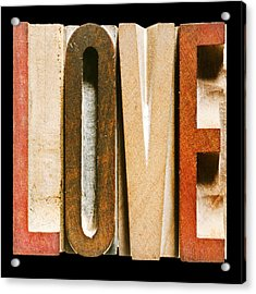 Single Word Love Acrylic Print by Donald  Erickson