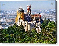Sintra Pena Palace  Portugal Acrylic Print by Jaime Alves